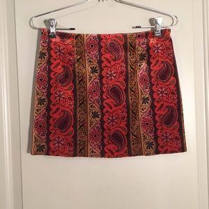 Nanette Lepore velvet skirt